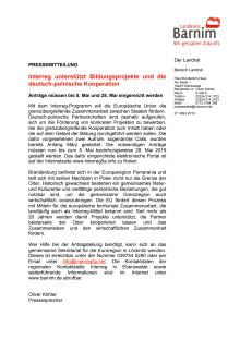 Interreg unterstützt Bildungsprojekte und die deutsch-polnische Kooperation