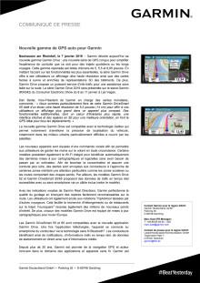 Nouvelle gamme de GPS auto pour Garmin