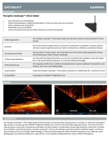 Datenblatt Garmin Panoptix LiveScope LVS12