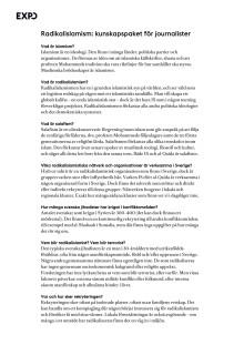 Radikalislamism: kunskapspaket för journalister