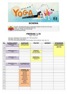 Malmö Yogafestival program och beskrivning