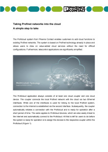 Taking Profinet networks into the cloud: A simple step to take
