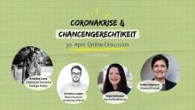 Online-Diskussion: Coronakrise und Chancengerechtigkeit