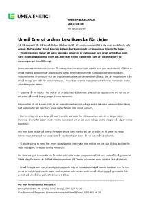 Umeå Energi ordnar teknikvecka för tjejer