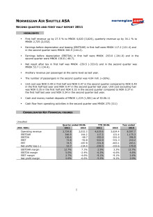 Norwegian Q2 11 Report