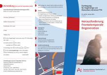Einladungsflyer zur Tagung Frontotemporale Degeneration 2019