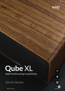 Qube XL High End Streaminglautsprecher aus Massivholz
