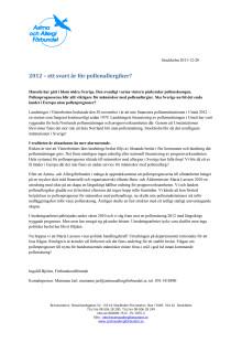 2012 – ett svart år för pollenallergiker?