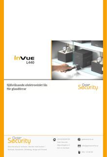 Självlåsande elektroniskt lås med IR-nyckel för glasdörrar