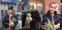 Beröm och blommor till biltvättshjältar