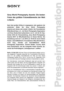 Sony World Photography Awards: Die besten Fotos des größten Fotowettbewerbs der Welt in Berlin