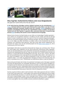 Shou Sugi Ban: Karbonisiertes Kebony setzt neue Designakzente