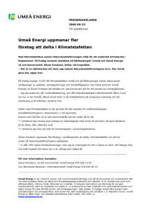 Umeå Energi uppmanar fler företag att delta i Klimatstafetten