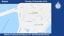 Appeal for witnesses following West Molesey arson