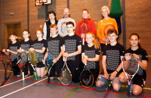 Pupils welcome Judy Murray back to Forres Academy