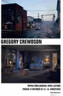 Open lecture: Gregory Crewdson, professor of photography at Yale University