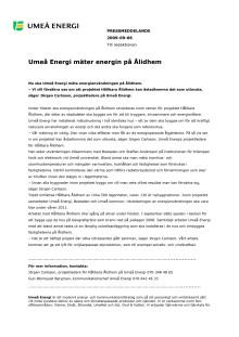 Umeå Energi mäter energin på Ålidhem