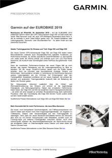 Garmin auf der EUROBIKE 2019