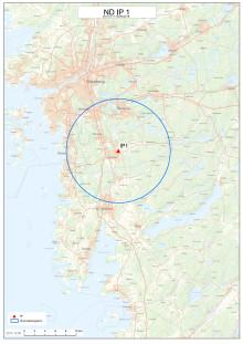 Karta över området med övervakningszon