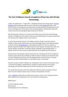 The Tech Trailblazers Awards strengthens African ties with @AfriLabs Partnerships #TTAwards @Techtrailblaze