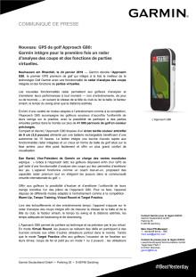 Nouveau GPS de golf Approach G80 : Garmin intègre pour la première fois un radar d'analyse des coups et des fonctions de parties virtuelles