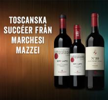 Topptrio i ordinarie sortiment - Toscanska succéer från Marchesi Mazzei!