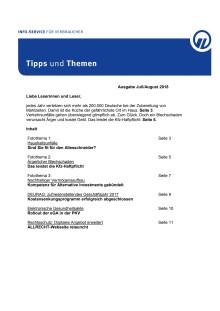 Tipps und Themen 7/8-2018