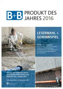 B+B kürt PRODUKTE DES JAHRES 2016