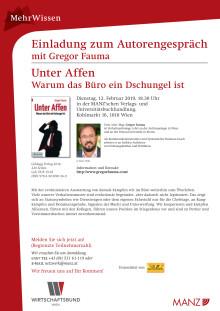 Einladung zum Autorengespräch mit Gregor Fauma