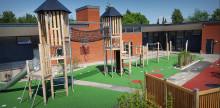 Indvielse af nyt legeområde på Kirkebjerg skole