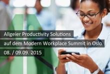 Allgeier Productivity Solutions spricht auf dem Modern Workplace Summit in Oslo