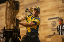 GULL OG SØLV TIL SVERIGE I TIMBERSPORTS-KONKURRANSENE FOUR NATIONS CUP OG SIX NATIONS CUP