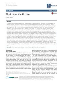 Forskning om musikens inverkan på mat av dr Spence