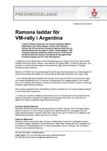 Ramona laddar för VM-rally i Argentina