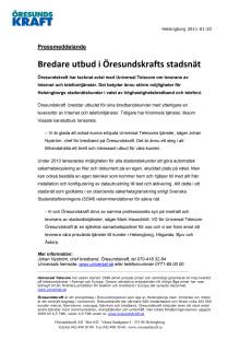 Bredare utbud i Öresundskrafts stadsnät