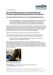 Ny behandlingsmetod mot headshaking