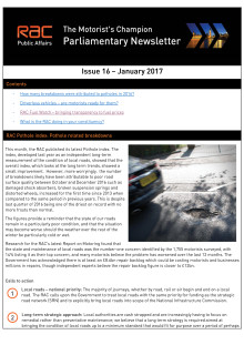 RAC Parliamentary Newsletter #17 - January 2017