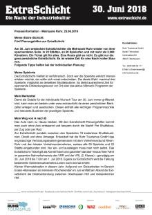 Meine (Extra)-Schicht: Fünf Planungshilfen zur ExtraSchicht