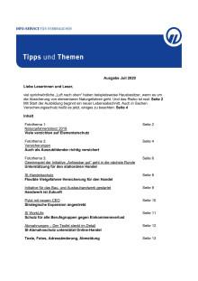 Tipps und Themen 7-2020