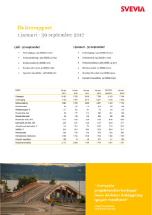 Svevia delårsrapport jan-sep 2017