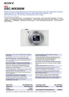 Datenblatt DSC-WX500W von Sony