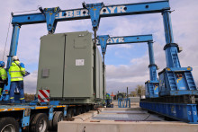 120 Tonnen schwere Spule bringt mehr Power ins Bayernwerk-Netz