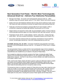 Verdenspremiere: Ny Fiesta er den mest avancerede minibil