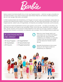 Barbie Fashionistas Factsheet