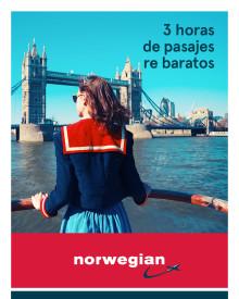 Otro miércoles de súper ofertas: por sólo tres horas, Norwegian ofrecerá pasajes con descuentos de hasta 20 por ciento