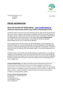 Pressemitteilung Onlineschaltung mulderadweg.de