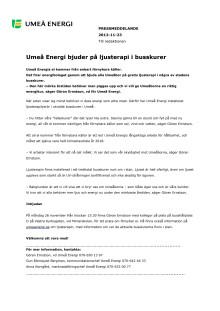 Umeå Energi bjuder på ljusterapi i busskurer