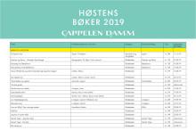 Cappelen Damms bokliste med datoer - høsten 2019