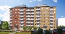 Riksbyggens nya kvarter med 225 bostäder i Berga Park växer fram