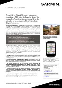 Edge 530 et Edge 830 : deux nouveaux compteurs GPS vélo de Garmin, dotés de nouvelles fonctions de cartographie et de sécurité avancées, enrichis d'indicateurs de performance.